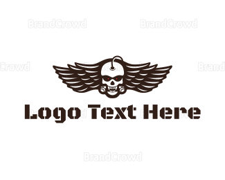 Angry - Angry Cyborg Wing logo design