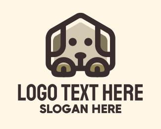 Dog House - Brown Puppy House logo design