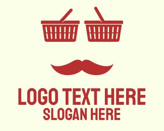 Man - Red Shopper Man logo design