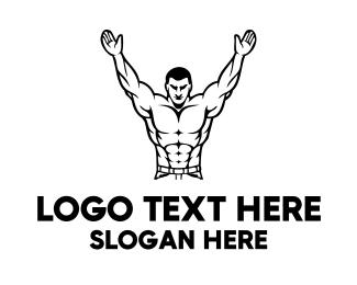Strong - Strong Muscle Man logo design