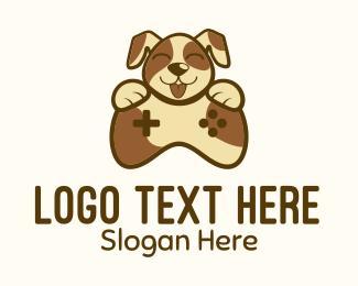 Video Game Stream - Dog Game Control logo design