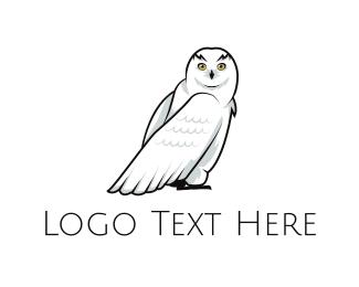 Winter - Snowy Owl logo design