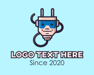 Cord - Electrical Plug Mascot logo design