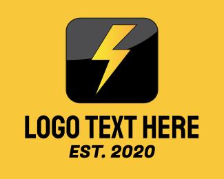 Icon - Thunderbolt Icon logo design