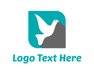 Pigeon - Flying Dove logo design