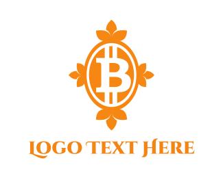 Blockchain - Bitcoin Bank logo design