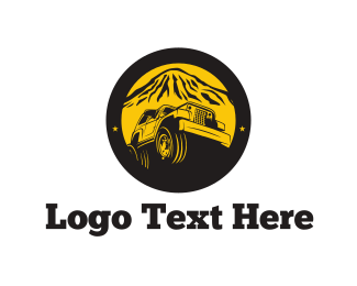 Desert - Four-Wheel Drive Circle logo design