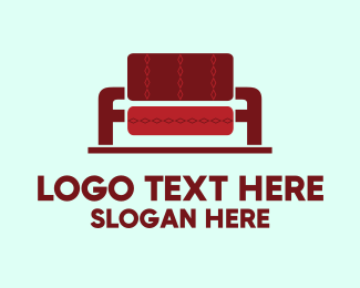Red Chair - Couch Furniture logo design