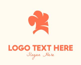 Grub - Orange Chef Hat logo design