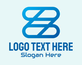 Process - Blue Links Letter Z logo design