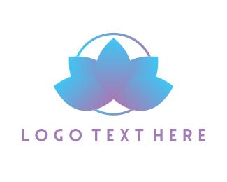 Mandala - Lotus Flower logo design