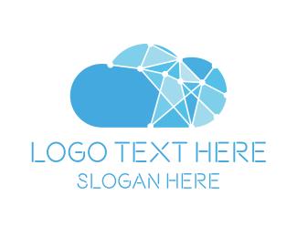 Network - Blue Cloud Network logo design
