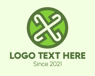 Rotate - Green X  logo design