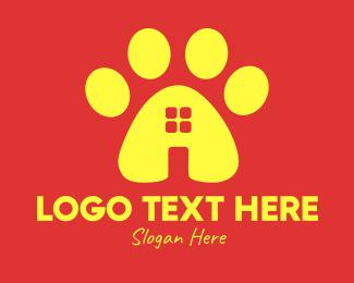 Animal Paw Pet Shop logo design
