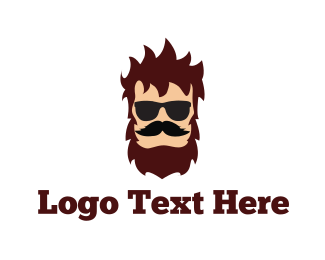 Barber - Hipster Man logo design