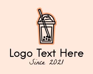 Tea - Milk Tea Frappe logo design