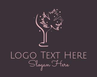 Lounge Bar - Canadian Wine Bar logo design