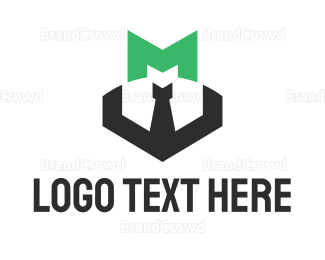 Bachelor - Green Letter M logo design