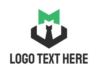 Developer - Green Letter M logo design