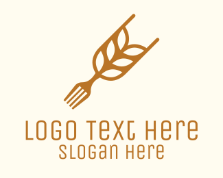 Fork - Rice Grain Fork logo design