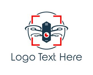 Spy - Drone Camera logo design