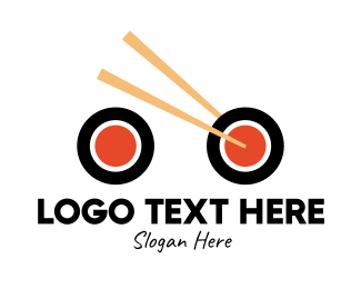 Chinese Food - Sushi Bike Delivery logo design