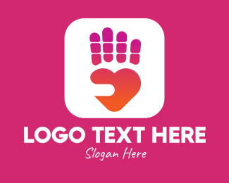 Site - Heart Hand App logo design