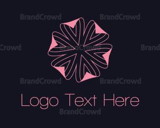 Skin Care - Pink Flower logo design