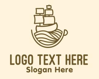 Expedition - Coffee Cup Galleon logo design