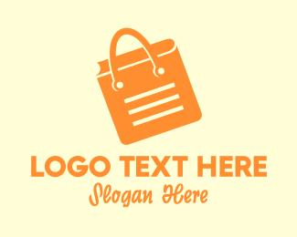 Booklet - Orange Shopping Book logo design