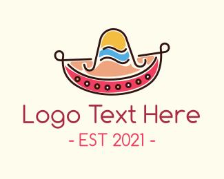 Mexican Hat - Mexican Sombrero Hat logo design