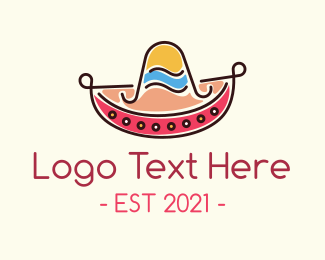 Hat - Mexican Sombrero Hat logo design
