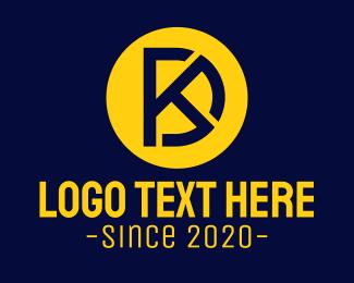 System - Monogram D & K logo design