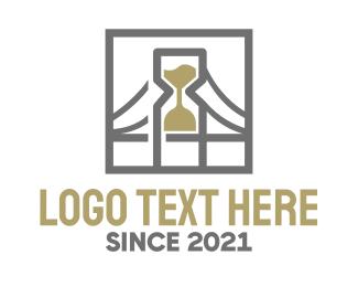 Hourglass - Hourglass Bridge logo design
