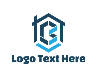 Home Improvement - Blue Letter B logo design