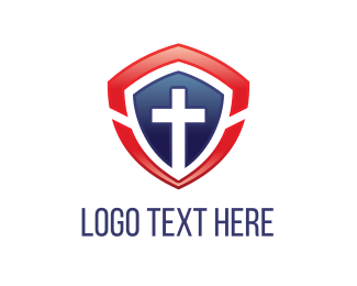 Religion - Cross Shield logo design
