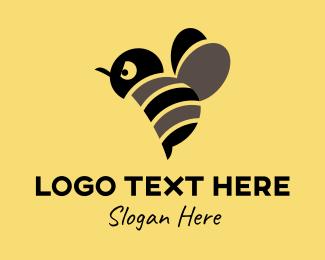 Honey Bee - Angry Bee Mascot  logo design