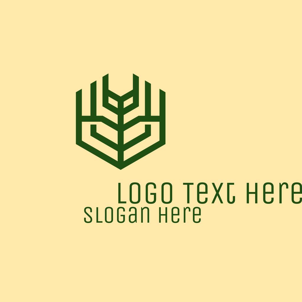 Football Logo Design: Green Farm Agriculture Logo