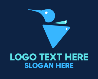 Hummingbird - Triangular Hummingbird logo design