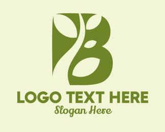 Organic Vine Letter B logo design