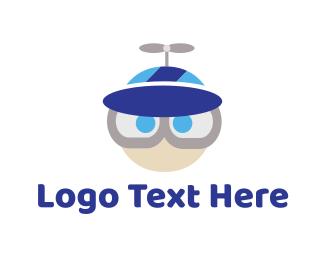 Baseball Hat - Propeller Hat logo design