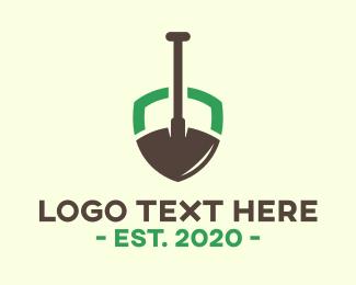 Ground - Gardening Shield logo design
