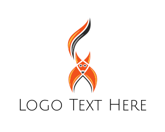 Clever - Abstract Red Fox  logo design