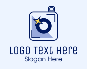 Camera - Camera Sparkle Flash logo design