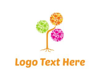 Bubbles - Bubbles Tree logo design