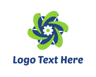 Propeller - Tech Flower logo design
