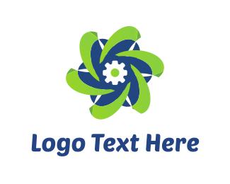 Robotics - Tech Flower logo design