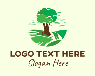 Park - Green Garden Park Tree logo design
