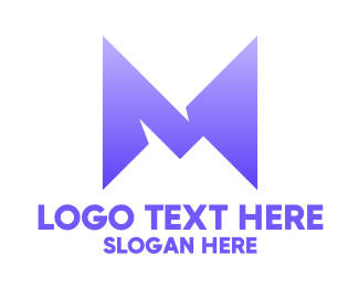 Shape - Abstract M Shape logo design