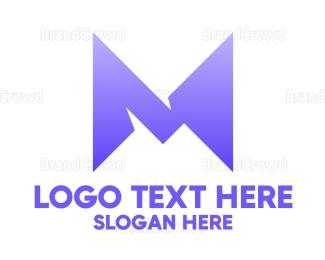 Shape - Abstract M Shape logo design